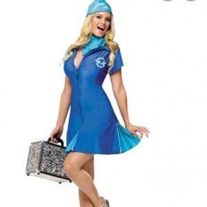 Sexy fly attendant Halloween costume